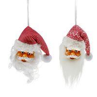 Weihnachtsanhänger Santakopf 14cm, 20cm 2St