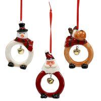 Weihnachtsfiguren 8cm - 10cm zum Hängen 3St
