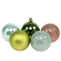 Weihnachtskugel Plastik Ø6cm Grün sort. 30St