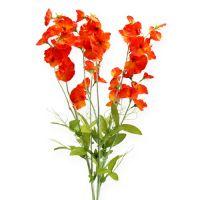 Wicke Kunstblume Orange, Rot 75cm 3St