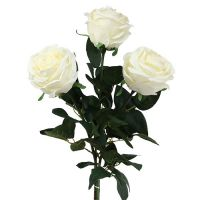 Deko-Rose Creme gefüllt Ø8cm L68cm 3St