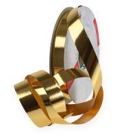 Kräuselband glänzend 19mm 100m Gold