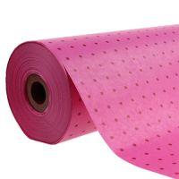 Manschettenpapier 25cm 100m Pünktchen Pink