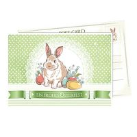 Postkarte Osterkarte 14,8cm  x 10,5cm 6St