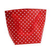 Geschenk-Tasche Rot, Weiß 22,5cm 8St