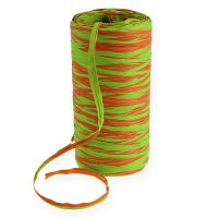 Raffia-Band Bicolor Orange-Grün 200m