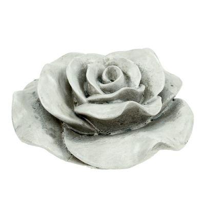 Deko Rose Grau 13cm