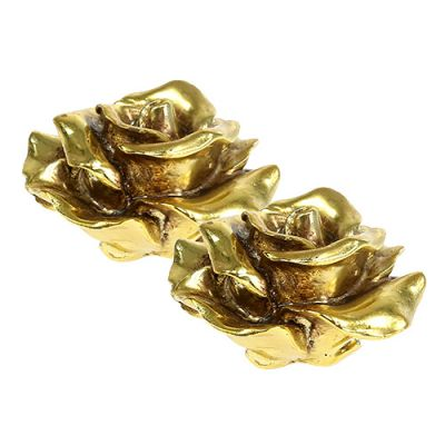 Deko Rosen Gold Ø8cm 6St