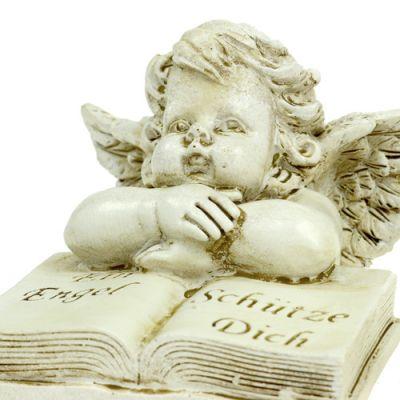 Engel mit Buch sort. 9cm creme 2St
