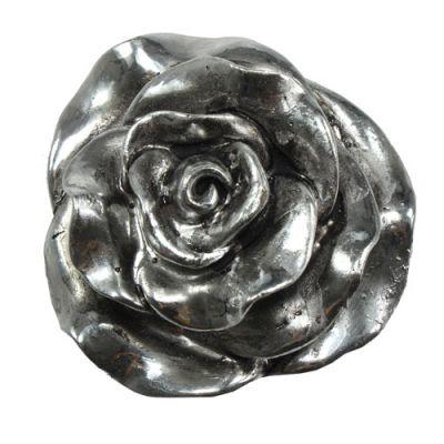 Grabschmuck Rosenkopf Silber Ø7,5cm 4St