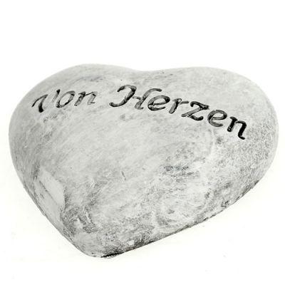 Herz mit Schrift grau 5,5cm 6St