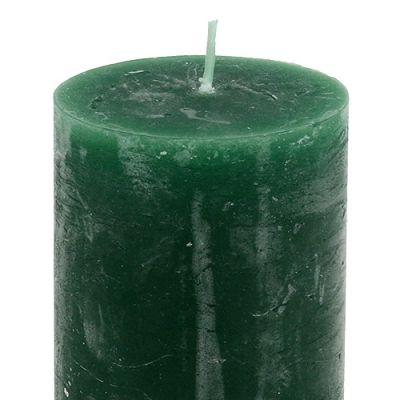 Kerze Dunkelgrün 50mm x 80mm durchgefärbt 12St