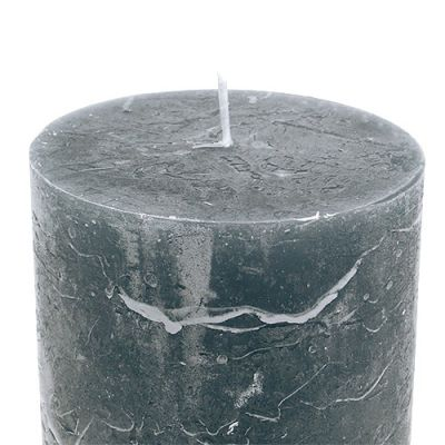 Kerze Grau 85mm x 120mm durchgefärbt 4St