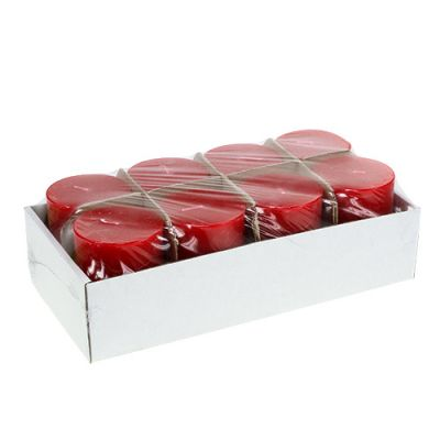 Kerze Rot durchgefärbt 60cm x 80cm 8St