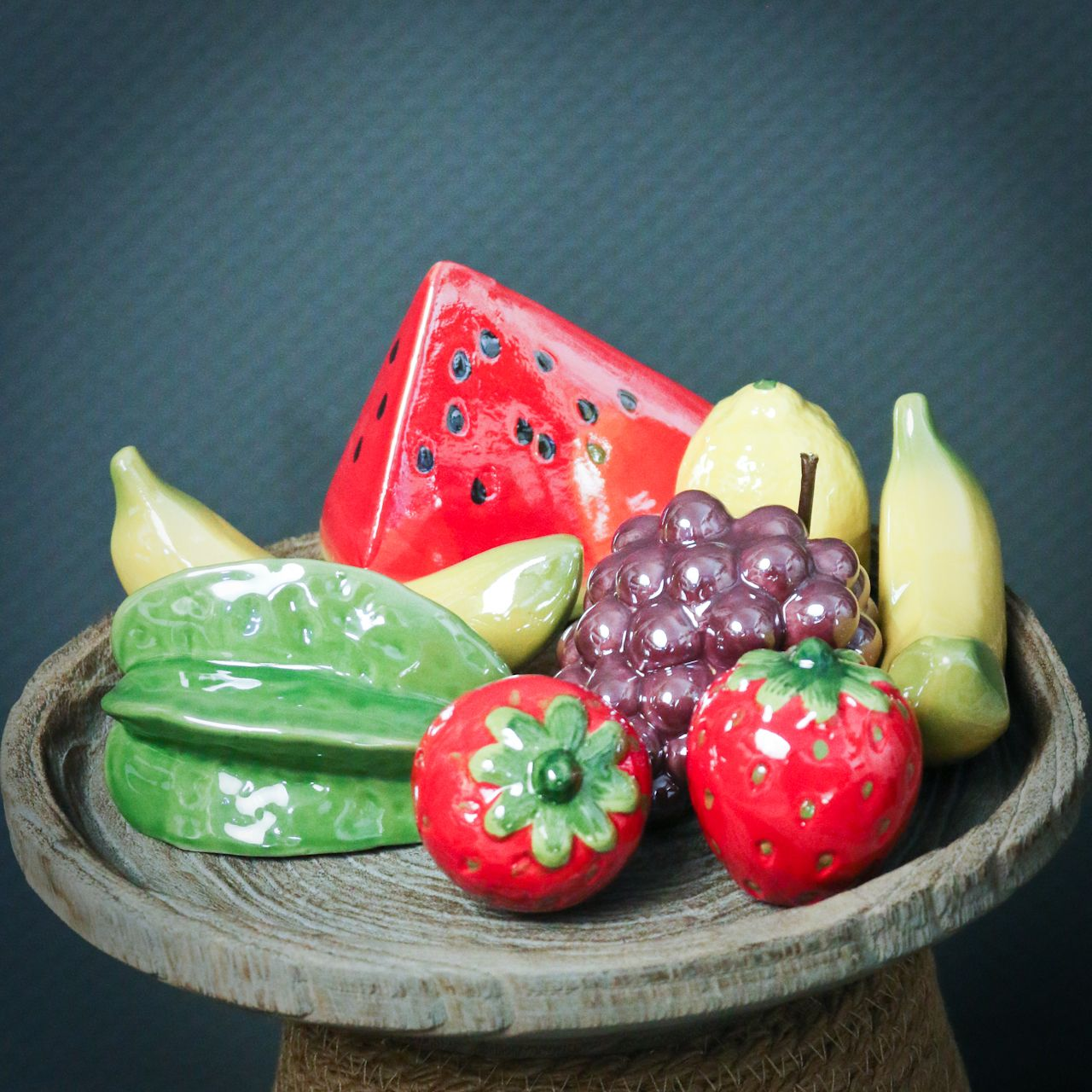 Melonenstück Keramik 12cm 3St