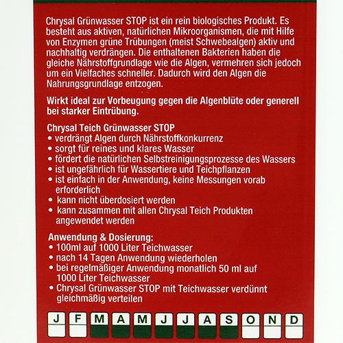 Chrysal teich gr nwasser stop 1000ml gro handel und for 1000 liter teich