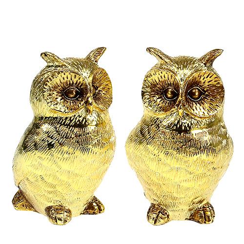 Deko Eule Gold Gl Nzend 12cm 4st Gro Handel Und Lagerverkauf