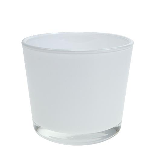 Blumentopf aus glas wei 10cm h8 5cm gro handel und for Blumentopf glas