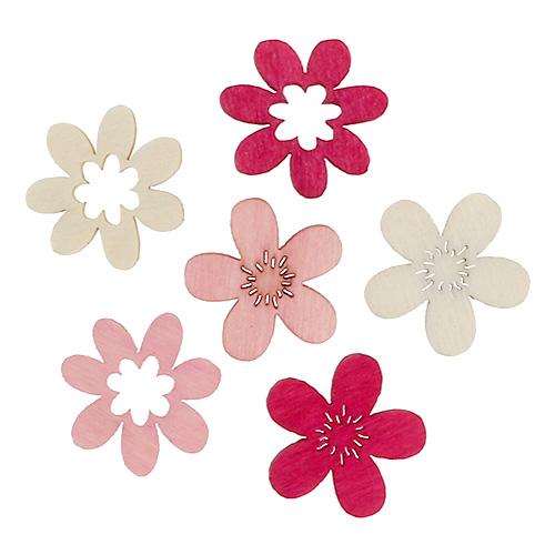 holzblumen streu deko 2cm pink sort 144st gro handel und