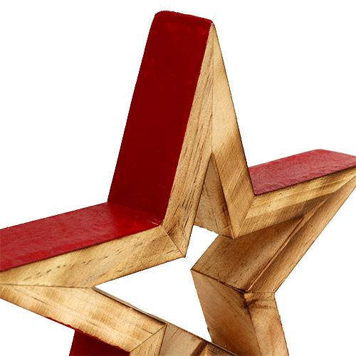 holzstern offen natur rot 17cm 2st gro handel und lagerverkauf. Black Bedroom Furniture Sets. Home Design Ideas