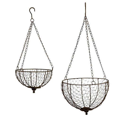 metall korb 2er set zum h ngen 17 5cm 22 5cm gro handel und lagerverkauf. Black Bedroom Furniture Sets. Home Design Ideas