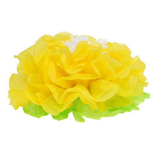 papierblume 28cm zum h ngen gr n gelb gro handel und lagerverkauf. Black Bedroom Furniture Sets. Home Design Ideas