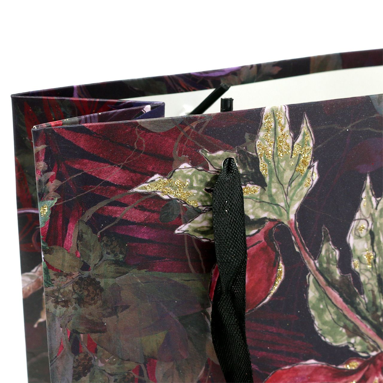 Geschenktasche Blumen Gold 18cm x 8cm H24cm