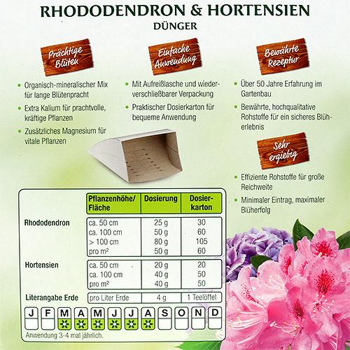 rhododendron und hortensien d nger 1kg gro handel und. Black Bedroom Furniture Sets. Home Design Ideas