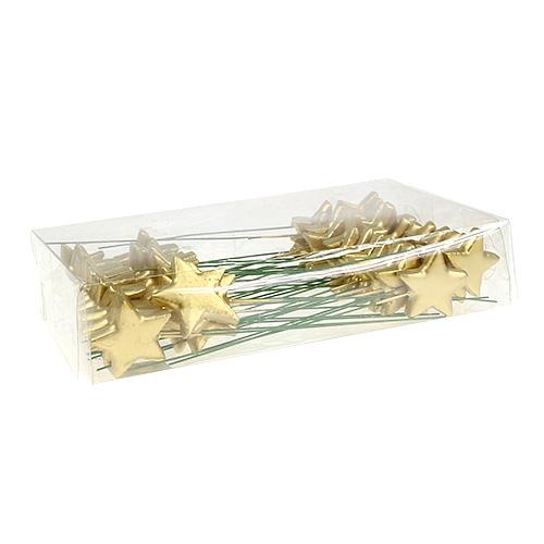 sterne am draht zum basteln gold 5cm l23cm 48st gro handel und lagerverkauf. Black Bedroom Furniture Sets. Home Design Ideas