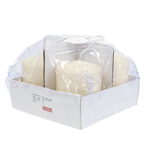 Stumpenkerze 130 100 creme 4st gro handel und lagerverkauf for Wohnzimmertisch creme