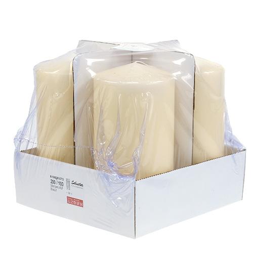 Stumpenkerze 200 100 creme 4st gro handel und lagerverkauf for Wohnzimmertisch creme
