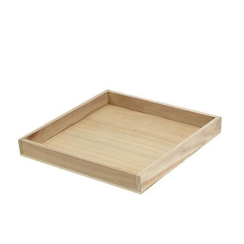tablett aus holz mittel natur 24 5cm x 24 5cm h3cm gro handel und lagerverkauf. Black Bedroom Furniture Sets. Home Design Ideas