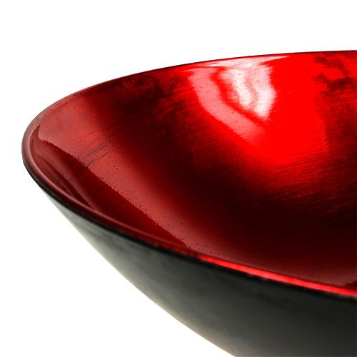 Tischdeko schale rot 28cm kunststoff gro handel und for Tischdeko rot schwarz