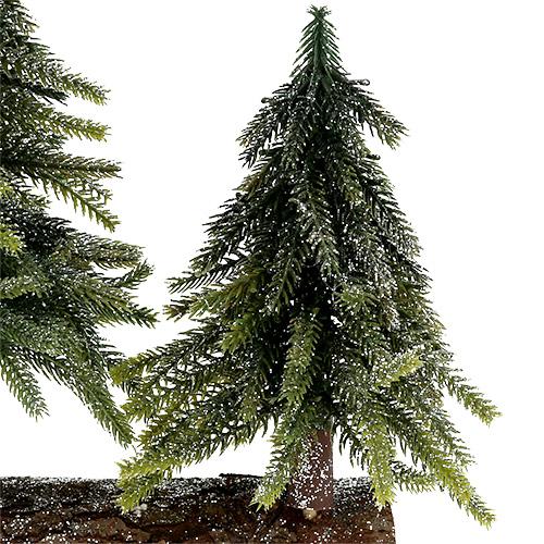tischdeko weihnachtsbaum mit glimmer h27cm l19cm. Black Bedroom Furniture Sets. Home Design Ideas
