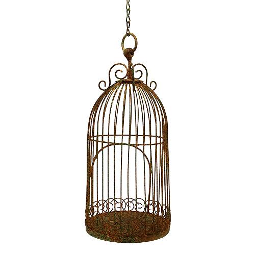 vogelk fig zum h ngen 14cm h30cm gr n rost gro handel. Black Bedroom Furniture Sets. Home Design Ideas
