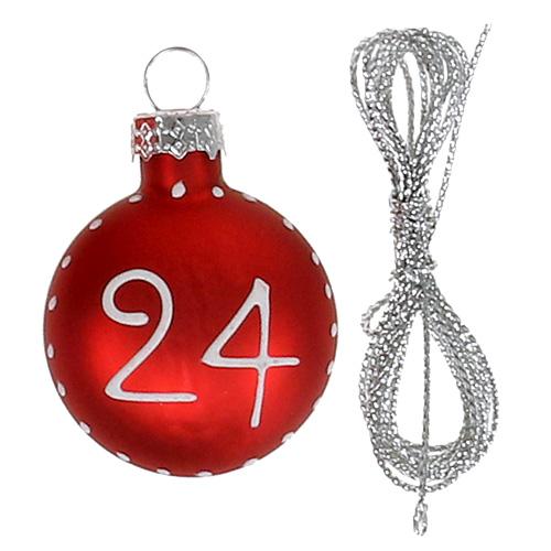 weihnachtskugel 3 5cm mit zahlen rot 24st gro handel und lagerverkauf. Black Bedroom Furniture Sets. Home Design Ideas