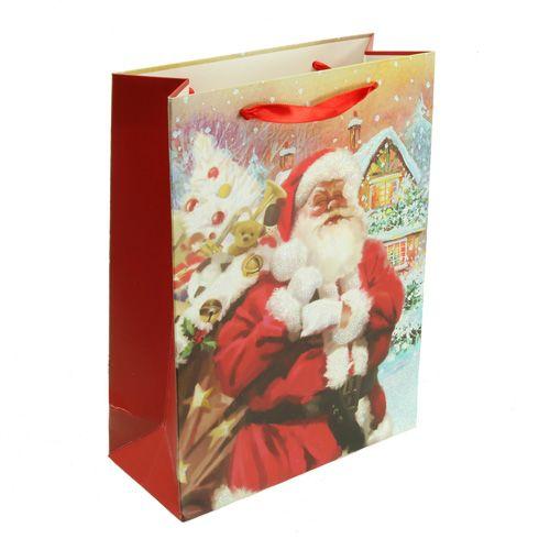 Geschenktüte Weihnachtsmann 32cm x 26cm x 10cm