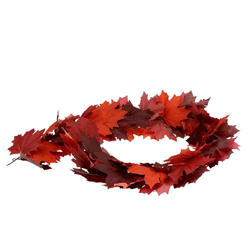 Ahorngirlande Rot-Orange 170cm