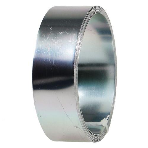 Aludraht Flachdraht Silber 30mm 3m