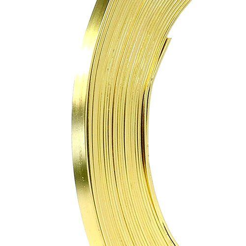 Aluminium Flachdraht Gold 5mm 10m