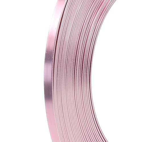 Aluminium Flachdraht Rosa 5mm 10m
