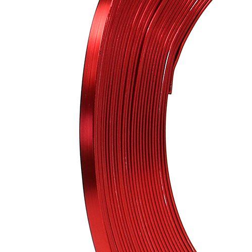 Aluminium Flachdraht Rot 5mm 10m