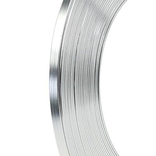 Aluminium Flachdraht Silber 5mm 10m