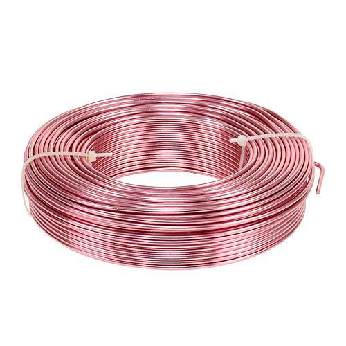 Aluminiumdraht Ø2mm 500g 60m Rosa