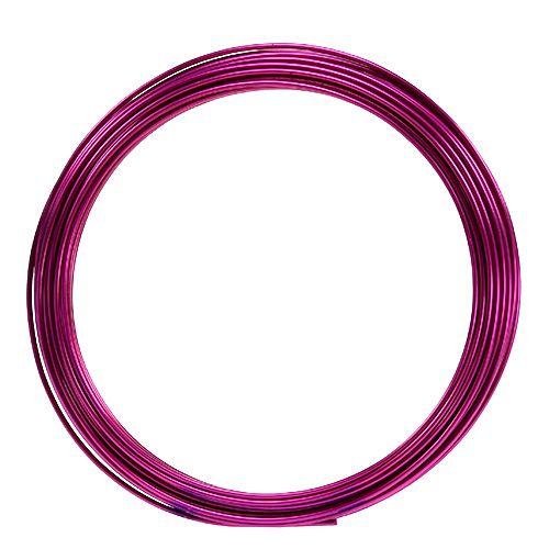 Aluminiumdraht 2mm 100g Pink