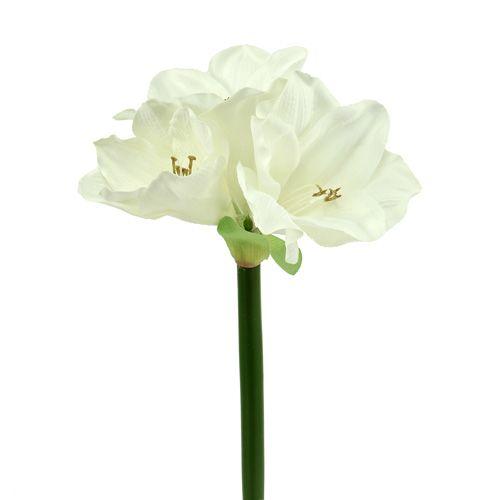 Amaryllis künstlich 60cm weiß