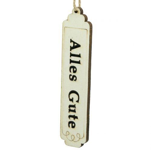 Dekohänger Geschenkanhänger mit Text 12,5cm 12St