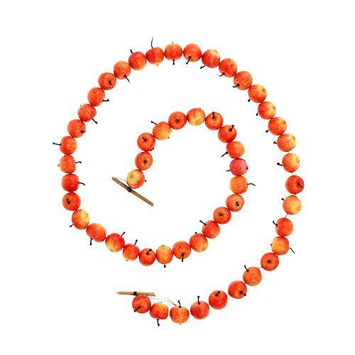 Apfelgirlande aus 55 mini Apfel gelb-orange 113cm
