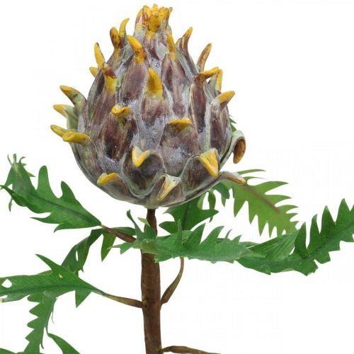 Deko Artischocke Lila Kunstpflanze Herbstdeko Ø7,5cm H42cm