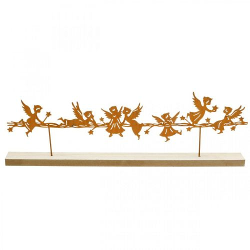 Tischdeko Weihnachten Engel Metall Aufsteller Rost 50×17cm
